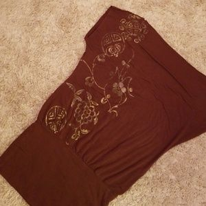 BEBE, xs slouch top